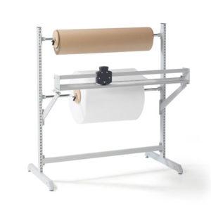 Напольный держатель для хранения реставрационных материалов в рулонах