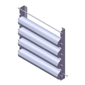 Настенный держатель для хранения реставрационных материалов в рулонах