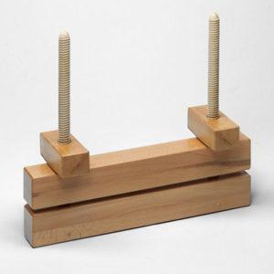 Пресс для переплетных работ с двумя винтами из древесины