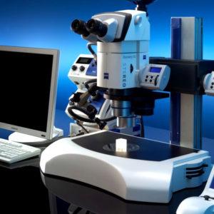 Стереоскопический микроскоп Stereo Discovery V8, V12, V20 с настольным штативом