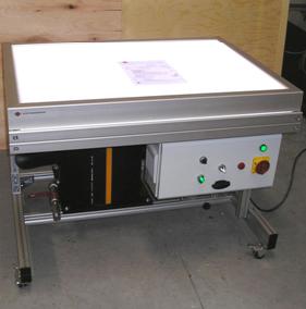 Вакуумный стол с подсветкой для реставрации документов и тканей