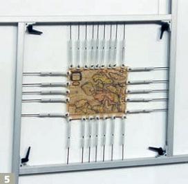 Рама для натяжки и разглаживания пергамента