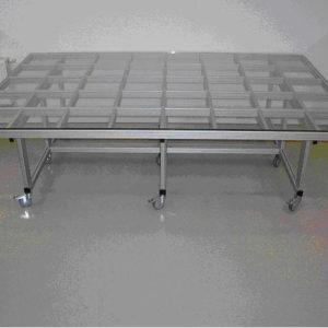 Стол для реставрации тканей со стеклянной поверхностью: 2900 x 1900 мм