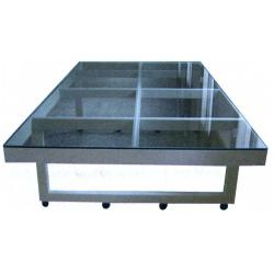 Стол для реставрации тканей со стеклянной поверхностью: 2500х1500 мм
